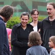 Jürgen, Karo, Claudia (ganz hinten), David. Vorne: Ben und Linus.