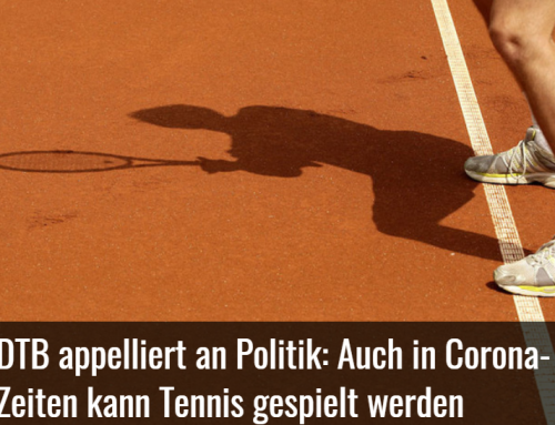 DTB appelliert an Politik: Tennis in Corona-Zeiten
