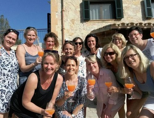 Zwei Fotos: Damen 40/2 auf Mallorca