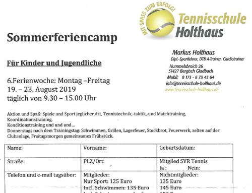 Einladung zu den Camps vom 19. bis 23. August 2019