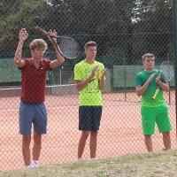 CM-Finalwochenende 2016: Nick, Janni und Max nach Franks Finalgewinn.