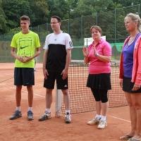 CM-Finalwochenende 2016: Janni, Daniel und die Turnierleiterinnen Andrea und Nicole.