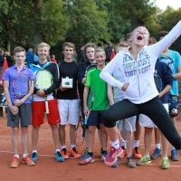 StM 2016 Jugend: Carlotta freut sich über ihren U14-Stadtmeistertitel.