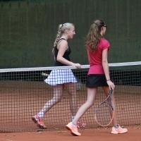 StM 2016 Jugend: Carlotta und Amelie nach dem U14-Halbfinale.