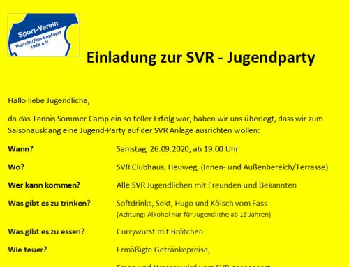 Einladung zur SVR-Jugendparty