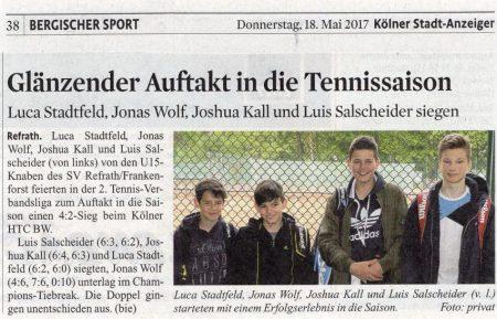 KStA-Artikel Donnerstag, 18.05.2017