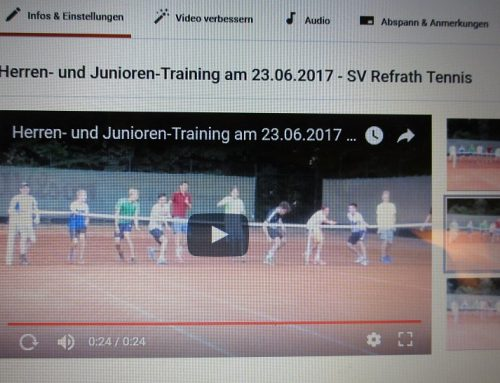 youtube-24-Sek.-Video: Herren- u. Juniorentraining