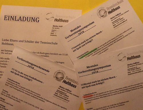 Vier Angebote der Tennisschule Holthaus