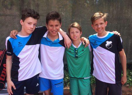 Am 11. Juni 2017: Finn, Paul, Lennard und Niklas.