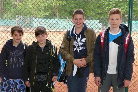 Am 7. Mai 2017: Luca, Jonas, Joshua und Luis